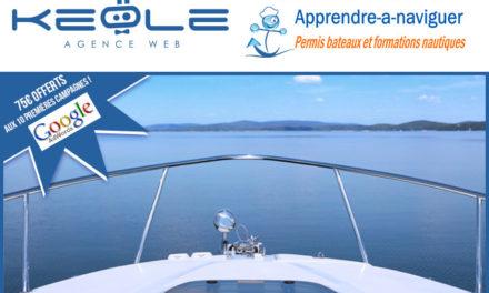 Campagne AdWords : Offre spéciale bateau-école