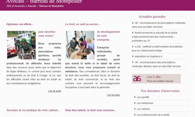 Site JSA avocats : collaboration avec le Passeur De Mots