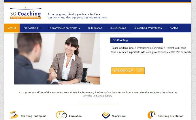 Refonte du site internet SG Coaching