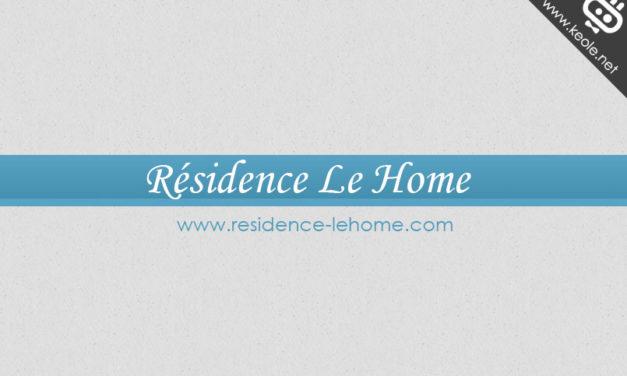 Refonte du site Internet de la Résidence Le Home
