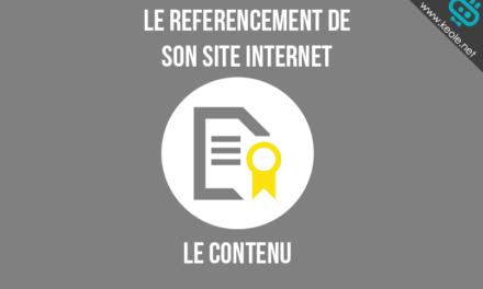 Référencement (2) : l'importance des contenus
