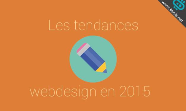 Les tendances webdesign en 2015