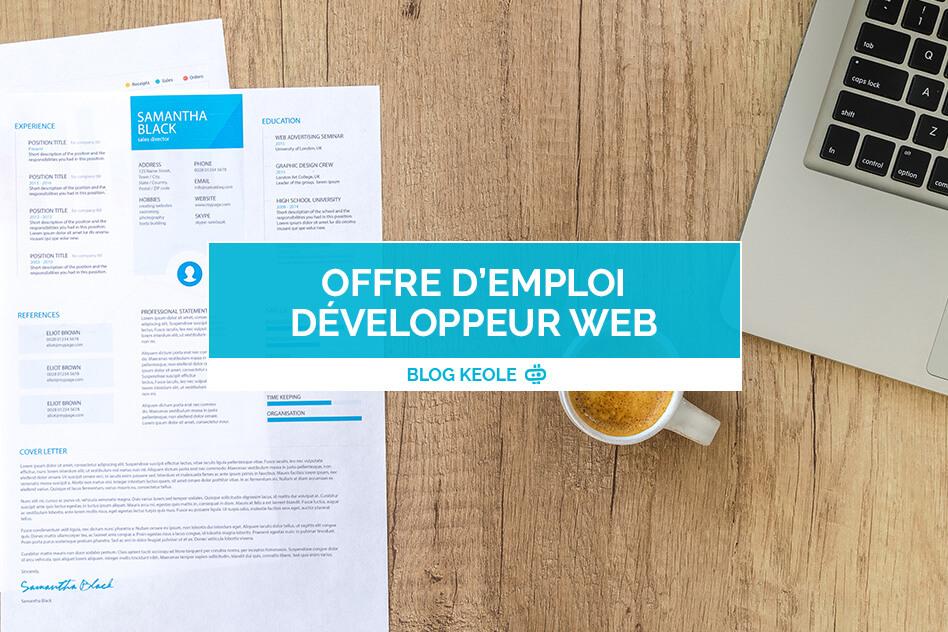 Offre d'emploi développeur web