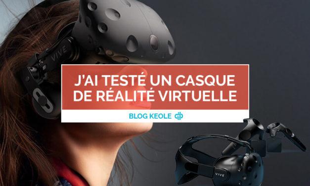 J'ai testé un casque de réalité virtuelle