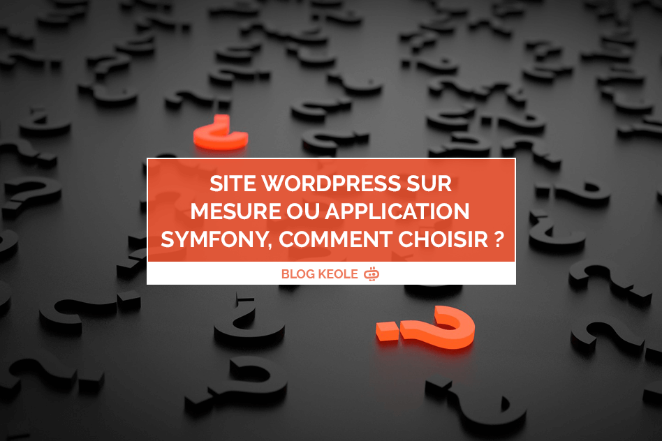 Site WordPress sur mesure ou application Symfony, comment choisir ?