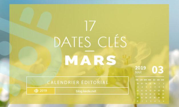 Les 17 dates clés de Mars 2019