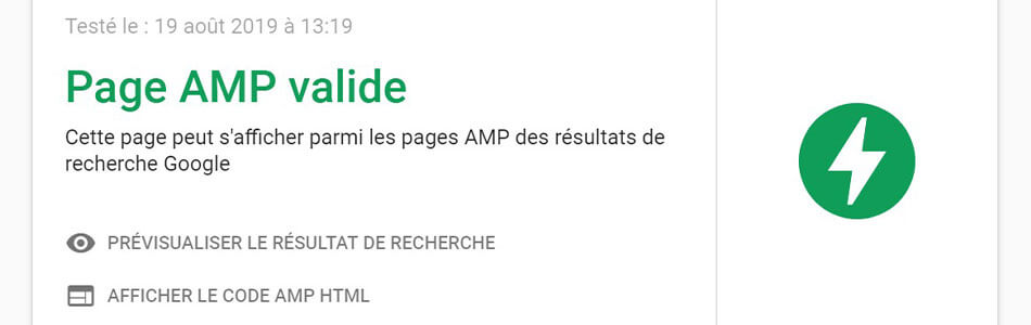 Page mobile AMP friendly